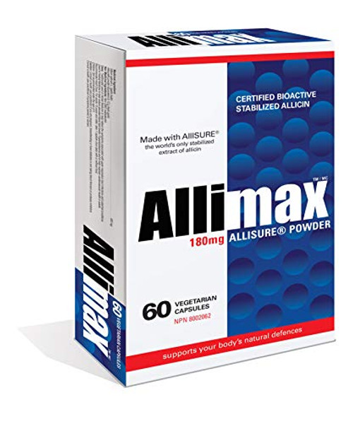 Allimax 180mg 60 Capsules. Supports Your Body's Immune Function Through Natural Allicin, a Potent Organosulphur Compound Extracted from Clean and Sustainable Spanish Grown Garlic.