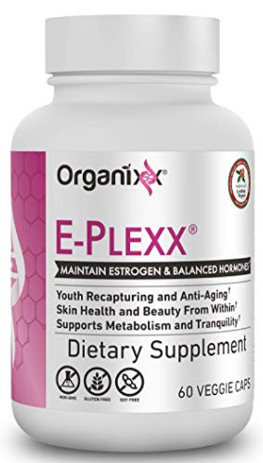 Organixx - E-plexx - Anti-Aging Supplement - 60 Capsules - Support The Endocrine System, Promote Healthy Hormone Levels, Improve Your Mood