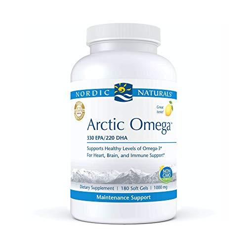 Nordic Naturals Arctic Omega, Lemon Flavor - 690 mg Omega-3-180 Soft Gels - Fish Oil - EPA & DHA - Immune Support, Brain & Heart Health, Optimal Wellness - Non-GMO - 90 Servings