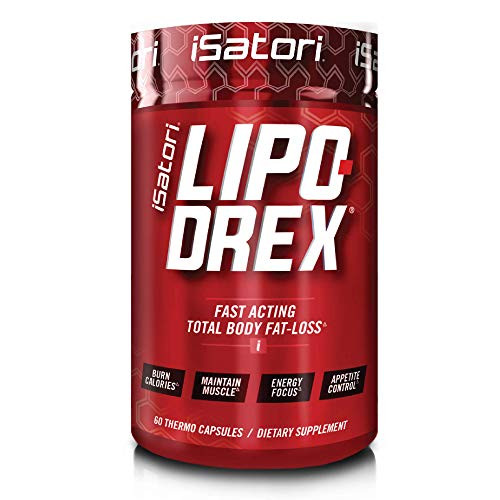 iSatori Lipo-Drex Fat Loss Thermogenic Formula - Focus Blend - Fast Acting Total Body Fat Burner Weight Loss Muscle Maintenance and Appetite Suppressant for Men and Women - 60 Capsules
