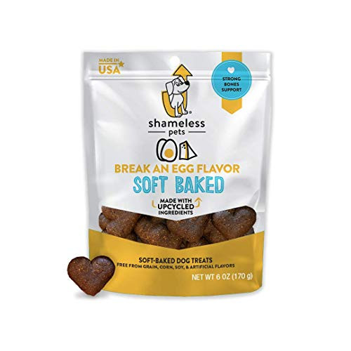 SHAMELESS PETS Natural Grain Free Dog Treats, Egg and Cheese   Made in The USA from Upcycled Food Ingredients   100% Natural, Grain Free, and Superfood Infused!