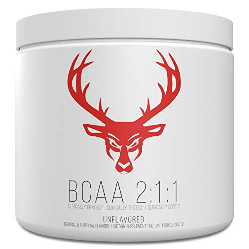 BCAA Branched Chain Essential Amino Acids Unflavored Powder - Bucked Up Raw Line -   100% Pure 2:1:1 Instantized Formula   Pre/Post Workout Bodybuilding Supplement   Boost Muscle Growth - 60 Servings