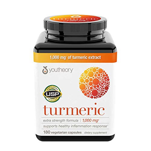 Youtheory Turmeric Extra Strength Formula Capsules 1,000 mg per Daily, 180 Count (Pack of 3) vi&ckA