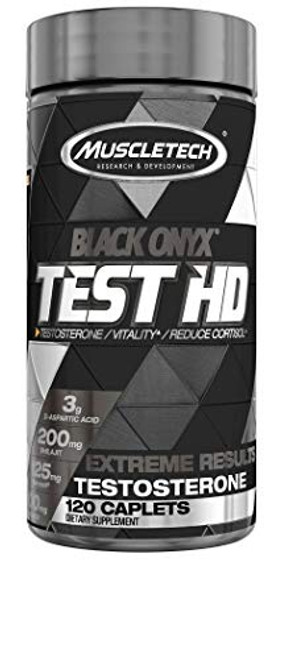 MuscleTech Test HD Elite, Test Booster for Men, Boosts Free Testosterone in 7 Days to Support Musclebuilding, Supports Nitric Oxide and Increased Blood Flow, Build Muscle & Strength, 120 Capsules