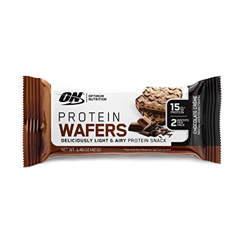 Optimum Nutrition New High Protein Wafer Bars (Low Sugar/Low Fat/Low Carb)-Dessert Flavor Chocolate, Chocolate, 13.29 Oz, 9 Count