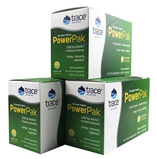 Electrolyte Stamina Power Pak Lemon Lime 1200 Mg Vitamin C, 3 Pack