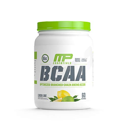 MusclePharm Essentials BCAA Powder, Post-Workout Recovery Drink, Lemon Lime, 60 Servings