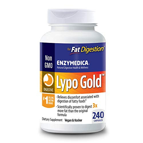 Enzymedica, Lypo Gold, Keto Supplement to Support Fat Digestion, Vegan, Non-GMO, 240 Capsules (240 Servings)