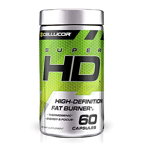 Cellucor SuperHD Thermogenic Fat Burner Weight Loss Supplement, Appetite Suppressant, & Energy Booster Capsimax, Green Tea Extract, 160mg Caffeine & More 60 Capsules (Packaging May Vary)
