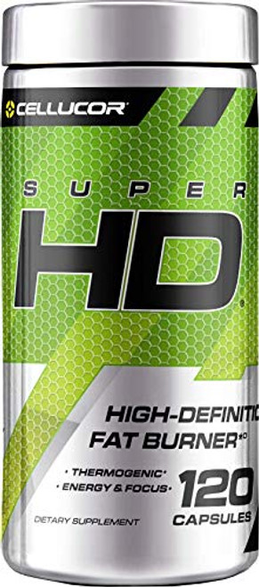 Cellucor SuperHD Weight Loss Capsules   Supplement for Men & Women With Nootropic Focus Plus 160mg Caffeine   120 Capsules