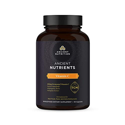 Ancient Nutrients Vitamin C - 250mg Fermented Vitamin C, Immune System Support, Adaptogenic Herbs, Enzyme Activated, 60 Capsules