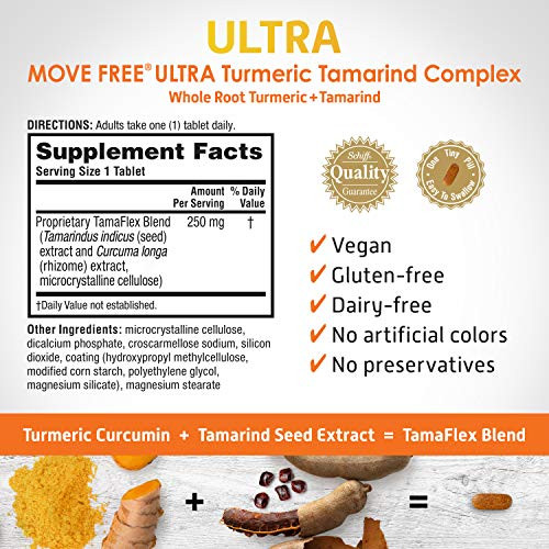 Turmeric & Tamarind Ultra Joint Health Supplement, Move Free (64 Count In A Box), Clinically Proven Joint Comfort In 1 Tiny Pill A Day