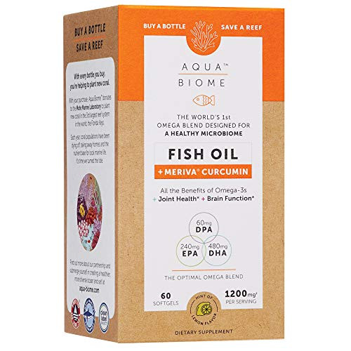 Aqua Biome by Enzymedica, Omega 3 Fish Oil and Meriva Curcumin, 60 Softgels