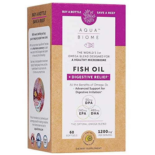 Aqua Biome by Enzymedica, Omega 3 Fish Oil and Digestive Relief, 60 Softgels