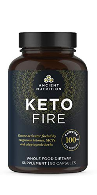 Ancient Nutrition KetoFIRE Capsules, Keto Supplement with BHB Salts as Exogenous Ketones, Electrolytes and Caffeine, Keto Diet, Ketosis Booster, 90 Count…