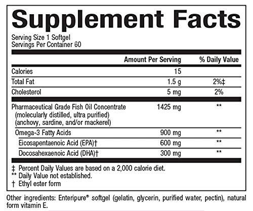 Natural Factors, Ultra Strength RxOmega-3 Fish Oil, DHA and EPA, 60 Softgels
