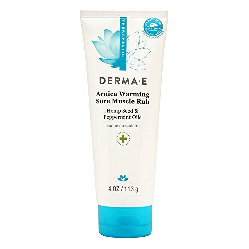 Derma E Arnica Warming Sore Muscle Rub, Cooling and Soothing Cream with Peppermint Oil & Arinca