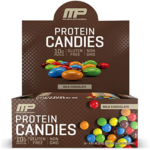 MusclePharm Protein Candies, 10g Protein, Milk Chocolate, 2.01 Ounce (Pack of 12)