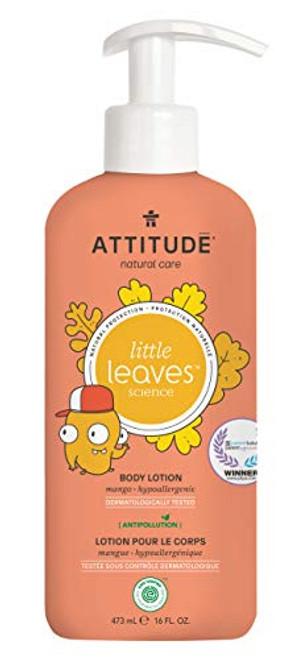 ATTITUDE Natural Body Lotion for Kids with Sensitive Skin, EWG Verified, Hypoallergenic, Mango, 16 Fl. Oz