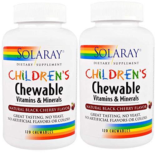 Children's Chewable Vitamins & Minerals Solaray 120 Chewable, 2 pack