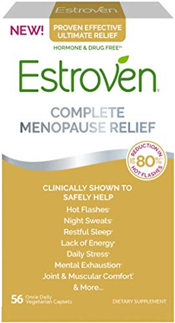 Estroven Complete Menopause Relief | Safe and Effective | Reduce Multiple Menopause Symptoms*1 | Reduces Hot Flashes and Night Sweats* | One Per Day | 56 Count