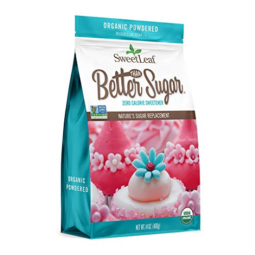 SweetLeaf Organic Better Than Sugar, Stevia Blend for Frosting Powdered Sweetener, 14 Oz