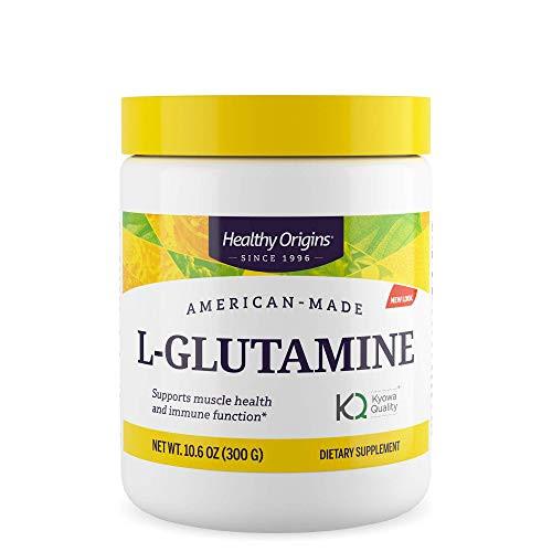 Healthy Origins L-Glutamine (American-Made, Non-GMO), 10.6 Ounce