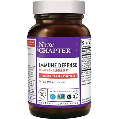 New Chapter Immune Defense: Vitamin C + Elderberry - 30 Count