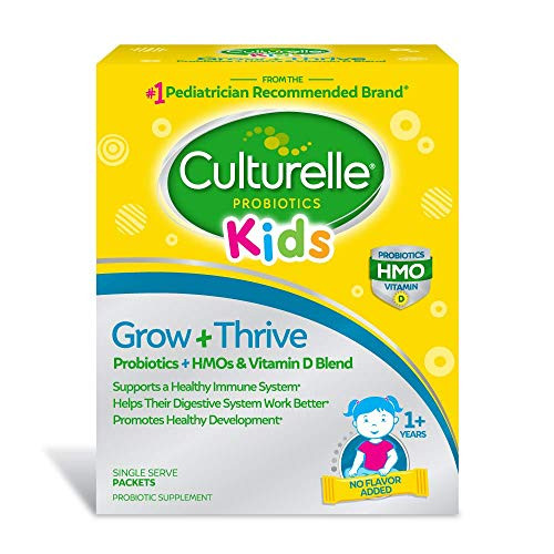 Culturelle Kids Grow + Thrive Probiotic Packets, Blend of Probiotics, HMOs & Vitamin D, Support a Healthy Immune System, Help Their Digestive System Work Better & Promote Healthy Development*,30 Count