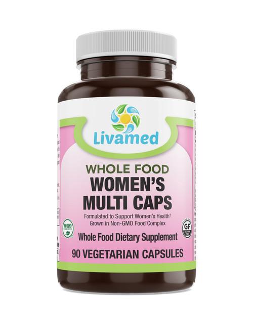 Livamed - Women's Multi Veg Caps - Whole Food Essentials   90 Count