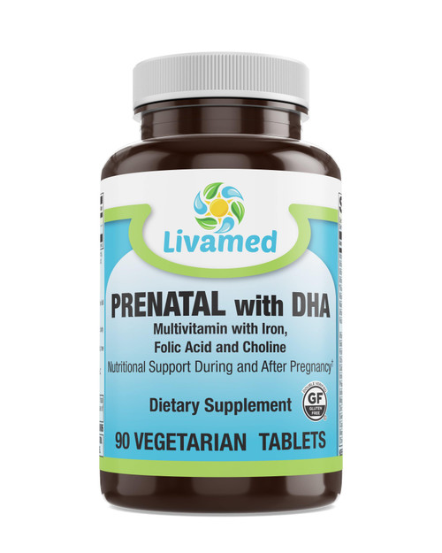 Livamed - Prenatal with DHA Veg Tabs 90 Count