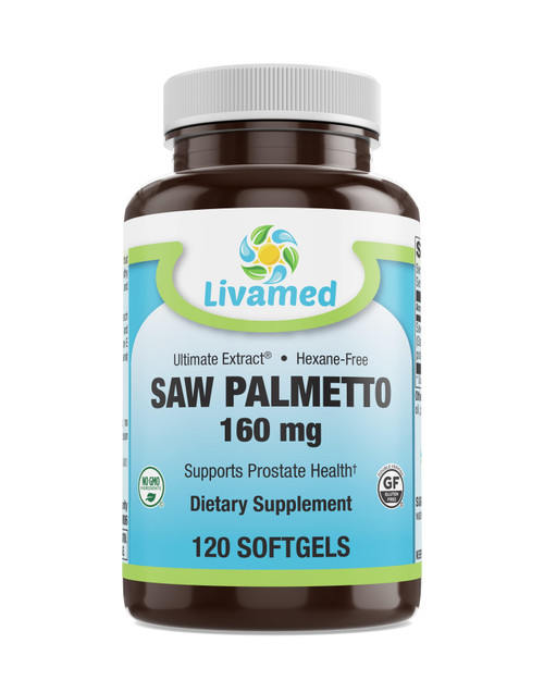 Livamed - Saw Palmetto 160 mg Softgels 120 Count