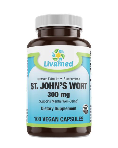 Livamed - St. John's Wort 300 mg Veg Caps 100 Count