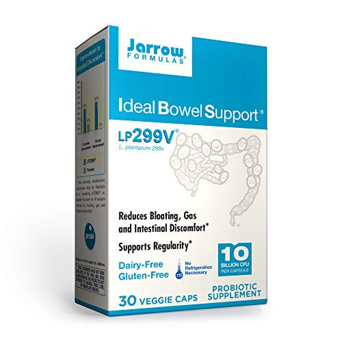 Jarrow Formulas Ideal Bowel Support, 10 Billion Organisms per Cap, Reduces Bloating Gas and Intestinal Discomfort, 30 Count (Cool Ship, pack of 3)-1610400559