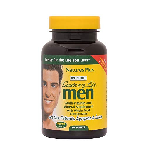 NaturesPlus Source of Life Men Multivitamin - 60 Vegetarian Tablets - Whole Food Supplement - Natural Energy Production & Overall Wellbeing for Men - Gluten-Free - 30 Servings