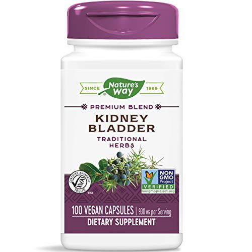 Nature's Way Kidney Bladder, 930 mg per Serving, Traditional Herbs Supplement, 100 Capsules