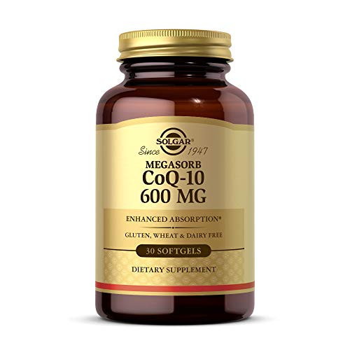 Solgar Megasorb CoQ-10 600 mg, 30 Softgels - Promotes Heart & Nervous System Health - Coenzyme Q10 Supplement - Enhanced Absorption - Gluten Free, Dairy Free - 30 Servings