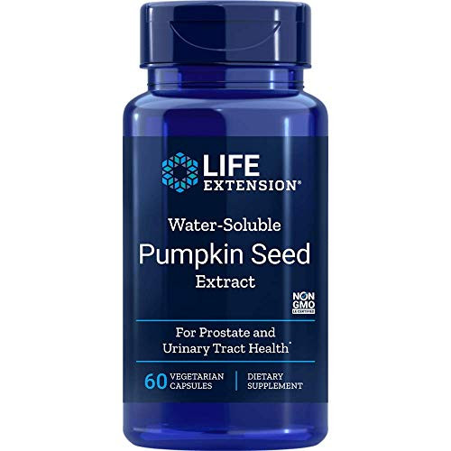 Life Extension Water-Soluble Pumpkin Seed Extract, 60 Vegetarian Capsules