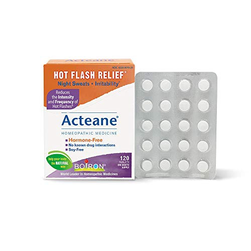 Boiron Acteane, 120 Tablets, Homeopathic Medicine for Hot Flash Relief-1610401137