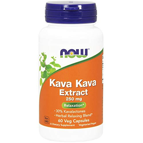 NOW Supplements, Kava Kava Extract 250 mg, 30% Kavalactones, Herbal Relaxation Blend*, 60 Veg Capsules