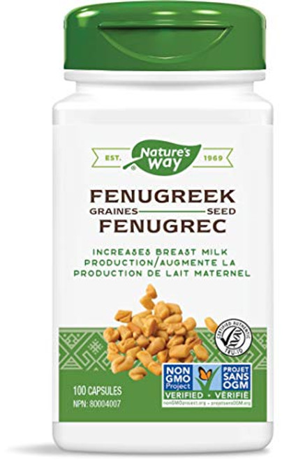 Nature's Way Fenugreek Seed, Increases Breast Milk Production, 100 Vegetarian Capsules