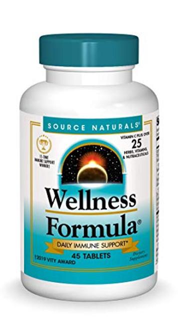 Source Naturals Wellness Formula Bio-Aligned Vitamins - Immune System Support Supplement & Immunity Booster - 45 Tablets
