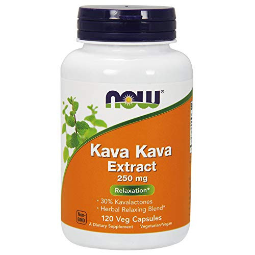 NOW Supplements, Kava Kava Extract 250 mg, 30% Kavalactones, Herbal Relaxation Blend*, 120 Veg Capsules