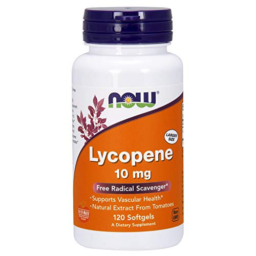 NOW Supplements, Lycopene 10 mg with Natural Extract from Tomatoes, Free Radical Scavenger*, 120 Softgels