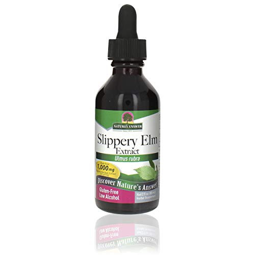 Nature's Answer Slippery Elm | Super Concentrated Herbal Supplement | Promotes Healthy Hair & Skin | Aids in Digestion | Kosher, No Gluten & Low Alcohol 2oz