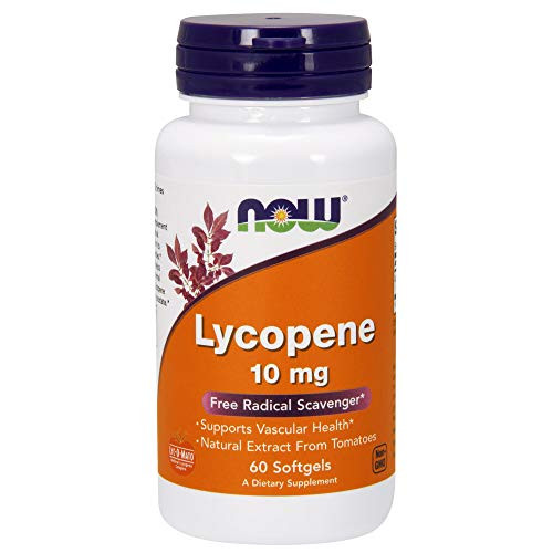 NOW Supplements, Lycopene 10 mg with Natural Extract from Tomatoes, Free Radical Scavenger*, 60 Softgels