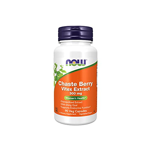 NOW Supplements, Chaste Berry Vitex Extract 300 mg with Dong Quai, Women's Health*, 90 Veg Capsules