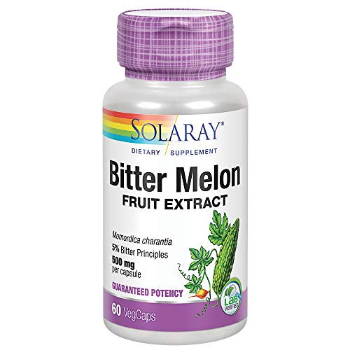 Solaray Bitter Melon Fruit Extract 500mg 5% Bitter Principles | Healthy Blood Sugar Support | Lab Verified | 60 VegCaps