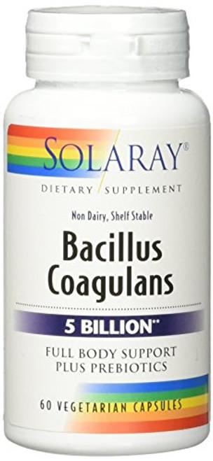 Solaray Bacillus Coagulans VCapsules, 60 Count-1610563613