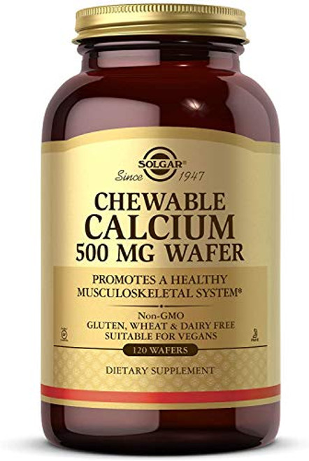 Solgar - Chewable Calcium Wafers, 500 Mg, 120 Wafers-1610563708